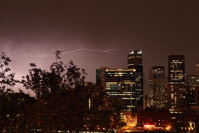 Denver Skyline Storm