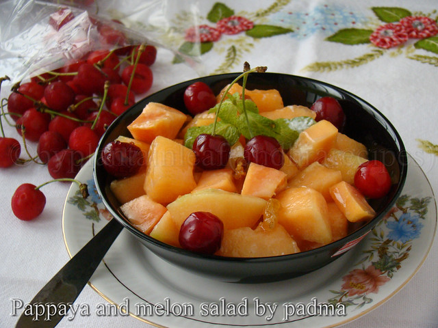 pappaya and melon salad