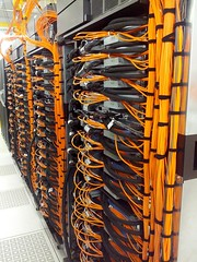 "VLSCI IBM BlueGene/Q ""Avoca"" cabled up, powered up and in testing in just 5 days!"