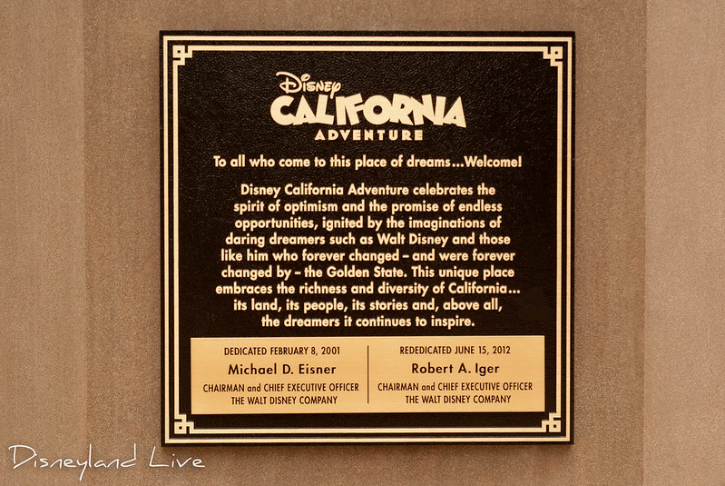 Buena Vista Street - Rededication Plaque