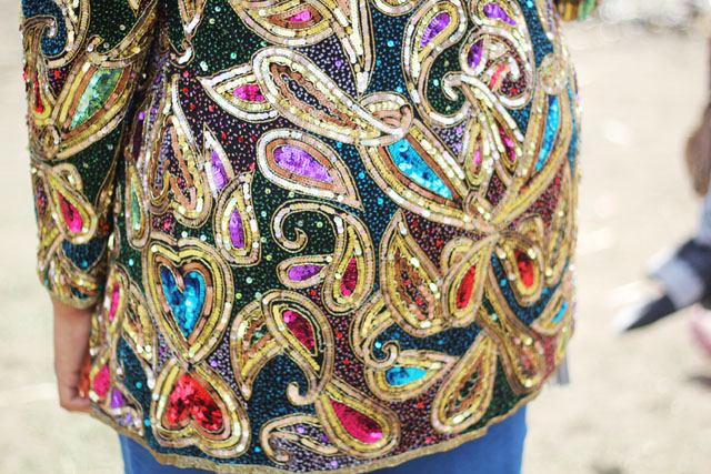 vintage sequin beaded jacket