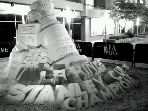 Stanley Cup Sand Sculpture by Jodi K.