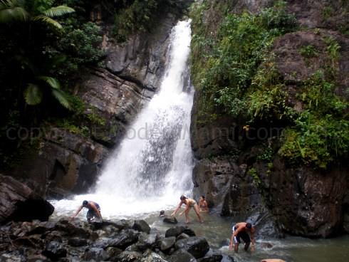 La Mina Falls in El Yunque, Puerto Rico