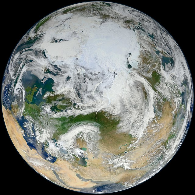Blue Marble 2012 - 'White Marble' Arctic View