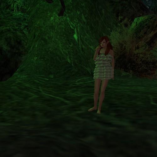 A strange green glow