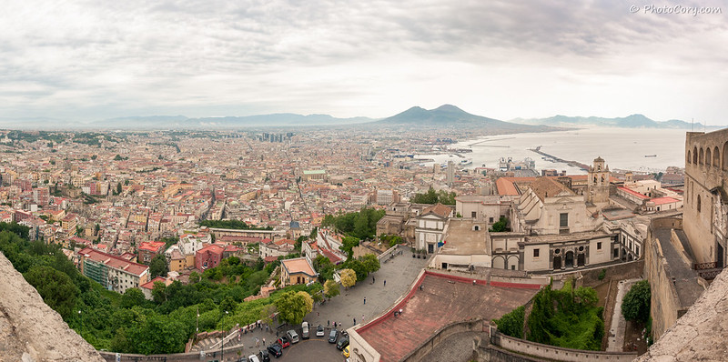 Napoli Panorama with Vesuvius Volcano in the background