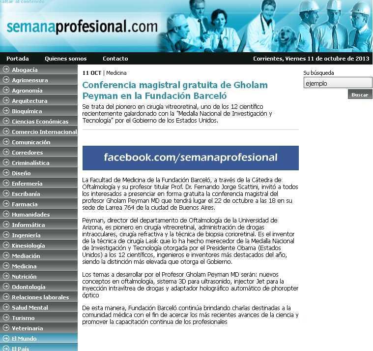 Site Semana Profesional (nota)11-10-13