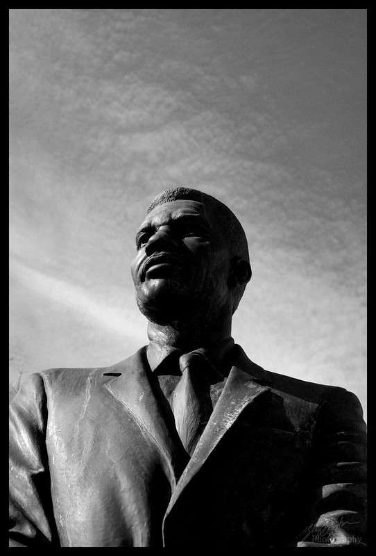 Medgar Evers, a portrait via statue