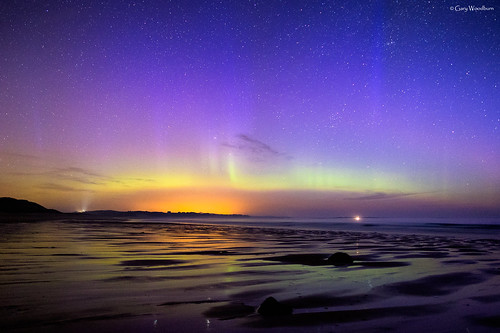 Rays of Light - Aurora Borealis, Embleton Bay, Northumberland