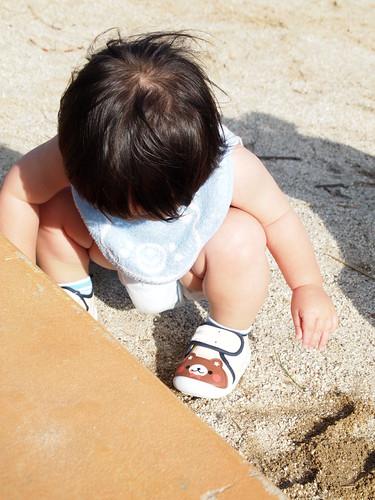 公園 お砂場デビュー 1歳 赤ちゃん