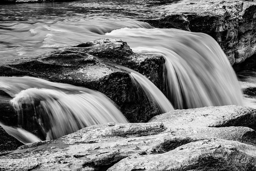 longexposure blackandwhite bw motion water rock austin outside us waterfall texas unitedstates mckinneyfallsstatepark