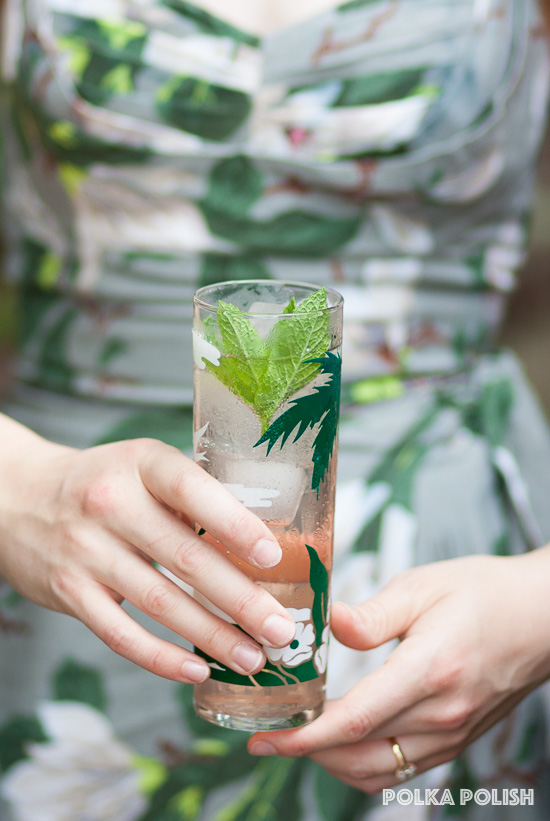 A rhubarb mojito and the Trashy Diva Steel Magnolias collection
