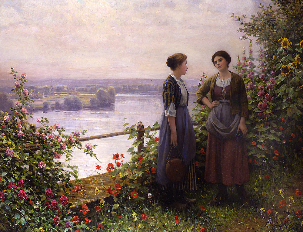 On the Terrace by Daniel Ridgway Knight