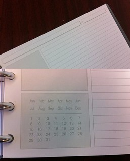 Levenger Circa Dimensions Notebook - Paper Layout, top and bottom