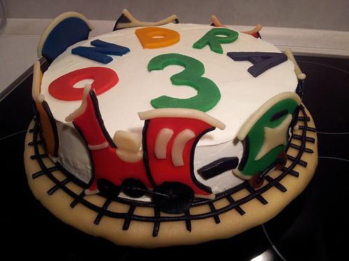 Vláčkový narozeninový dort