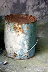 Rusty paint pot