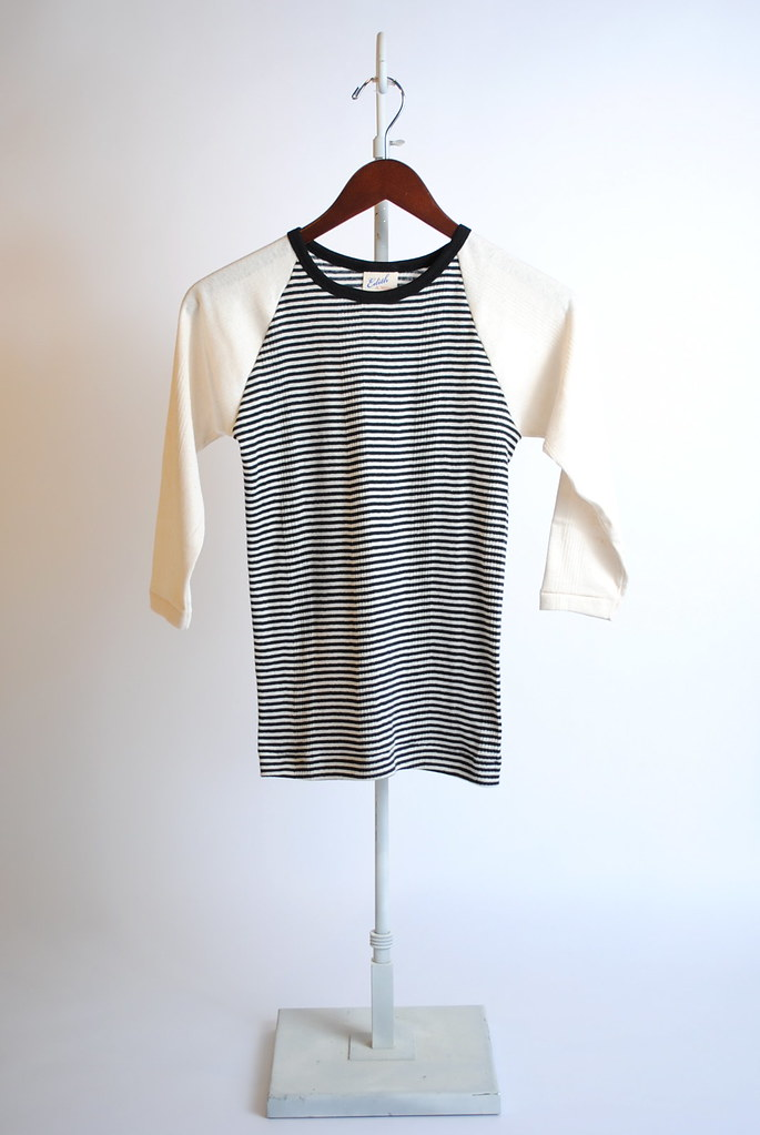 Baseball 1/2 Sleeve Striped Tee