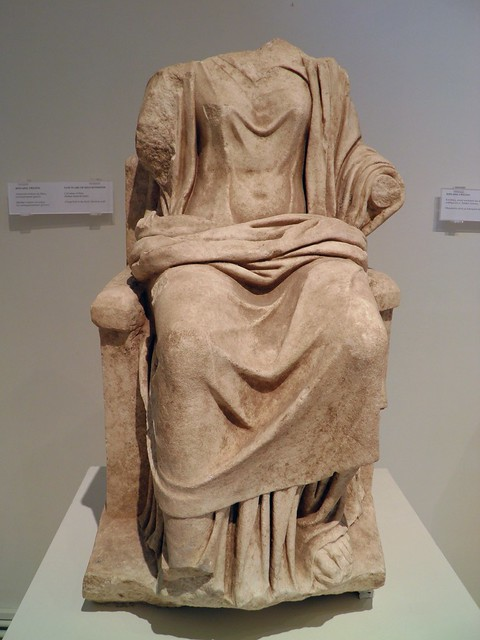 Cult statue of Hera, from the santuary of Zeus Hypsistos, Roman imperial times, Archaeological Museum, Dion