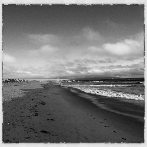 Coastline b&w