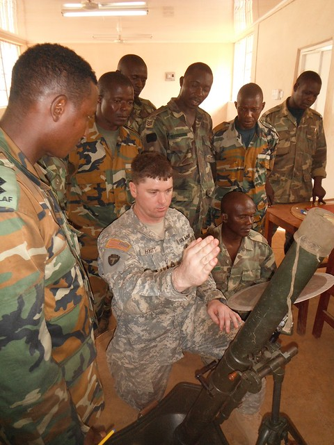 U.S. Soldiers 'train the trainer' in Africa