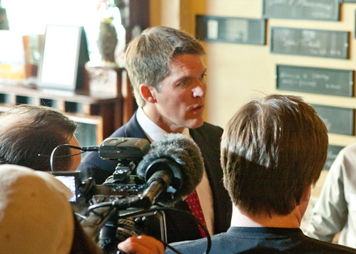 Eric Hovde candidate for U.S. Senate was the guest at the Newsmaker Luncheon on April 24, 2012