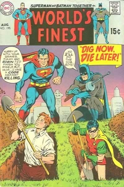 Capas ridículas do Superman e do Batman