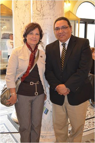 South Dakota USDA Rural Development State Director Elsie Meeks and J.R. LaPlante, Secretary of Tribal Relations for the state of South Dakota mark State Tribal Relations Day at the South Dakota State Capitol.