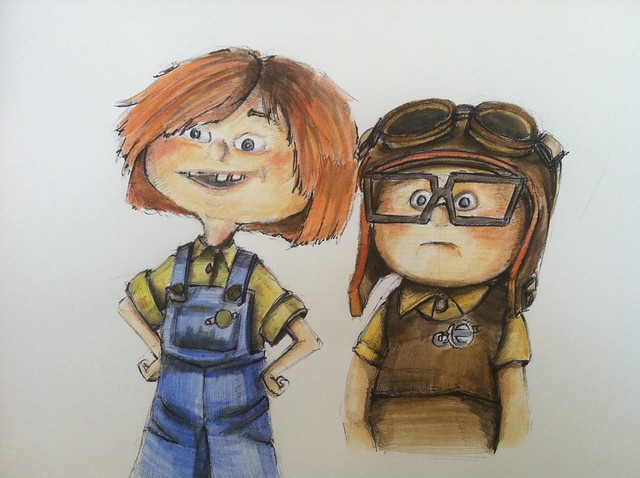 young carl and ellie from up wwwimgkidcom the image