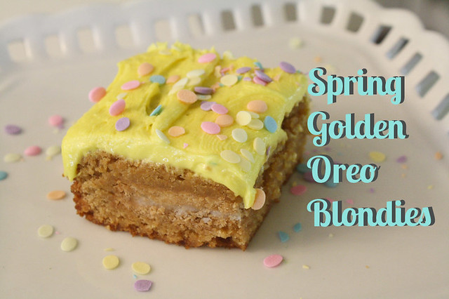 Spring Golden Oreo Blondies