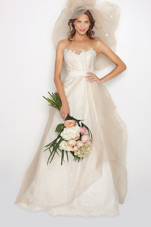 strapless sweetheart a line wedding dress