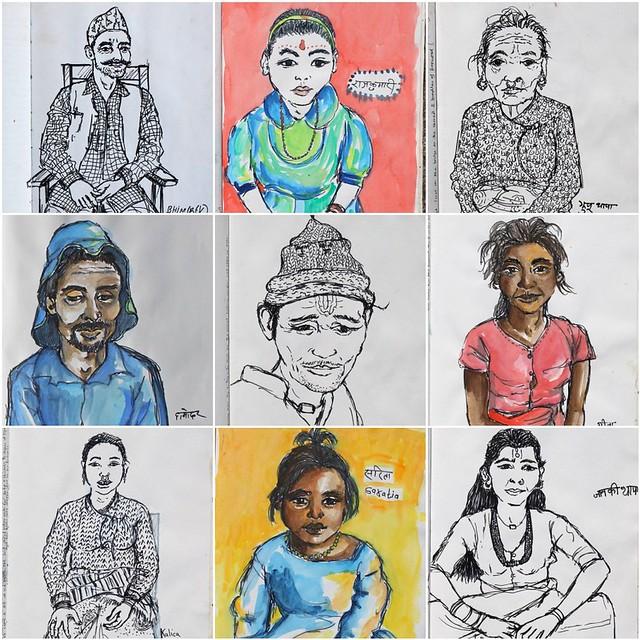 Bardia, Nepal portraits