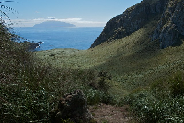 View of Tristan da Cunha from Nightingale island