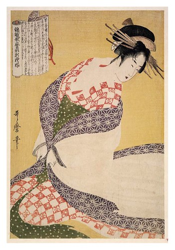 007-El manto blanco 1796-1798-Kitagawa Utamaro-NYPL