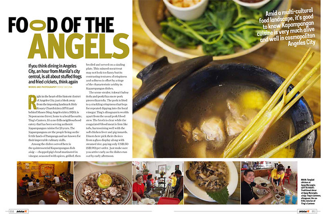 Opening spread of the Food for the Angeles Story