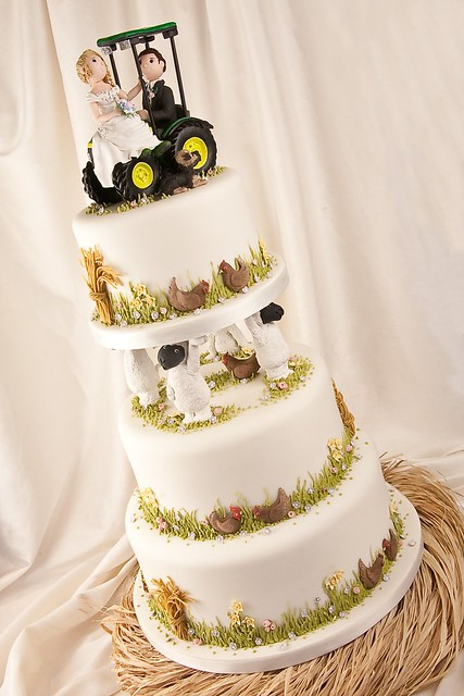 farm wedding cake toppers