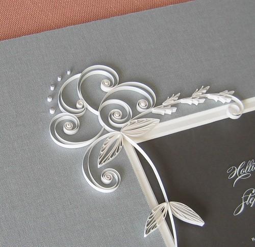 Quilled wedding invitation by Ann Martin