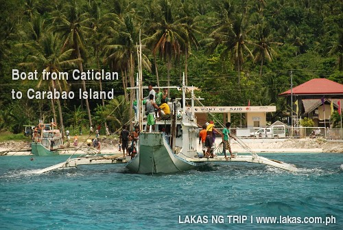 Boat from Caticlan, Aklan to Carabao Island, San Jose, Romblon