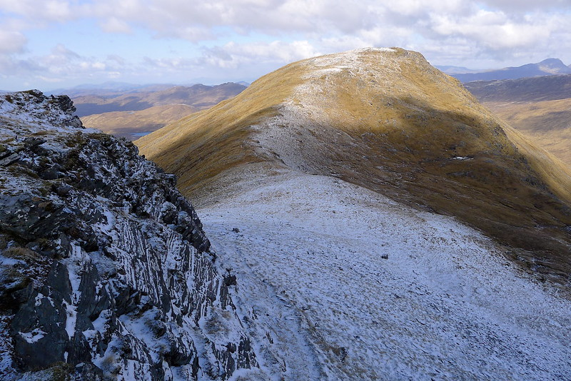 Looking to Beinn Tharsuinn's west top