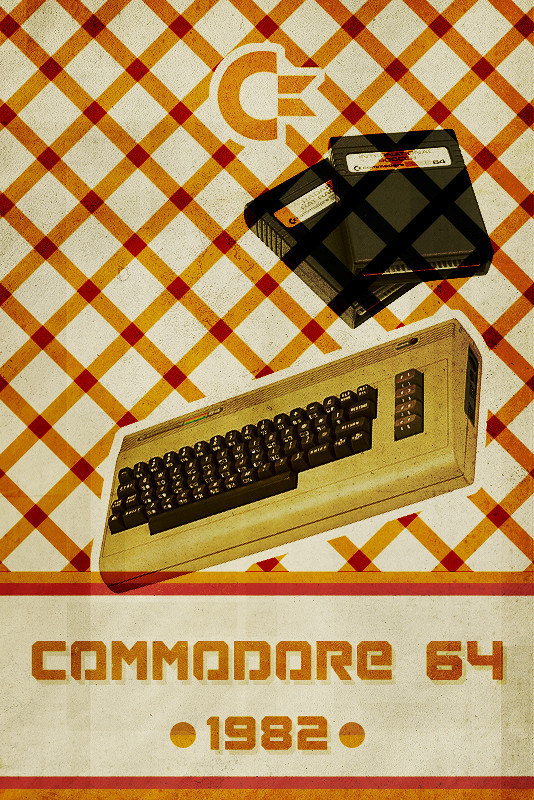 Commodore 64 - Retro Poster