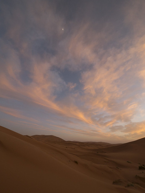 Sahara Sunset, Morocco with Panasonic GX1 and Lumix 7-14mm lens