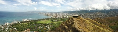 Panorama from top of Diamondhead