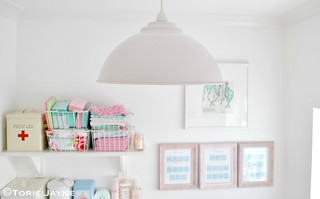 Pale pink pendant light