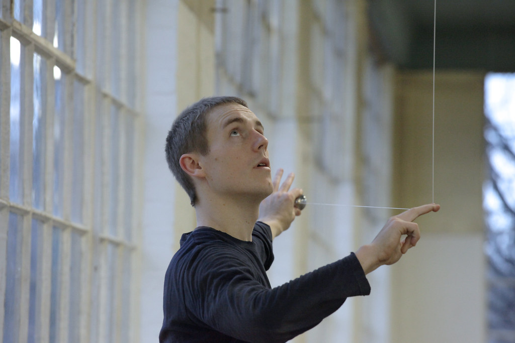 Brock Labrenz, Forsythe Dance Company, performs in Rand Hall, Cornell University.