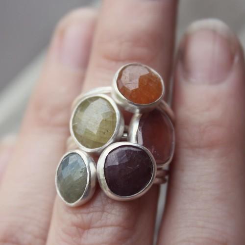 rosecut sapphires
