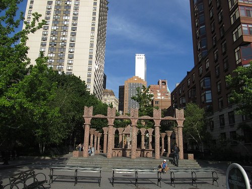 Artistic Feature in Battery Park City, Manhattan, New York