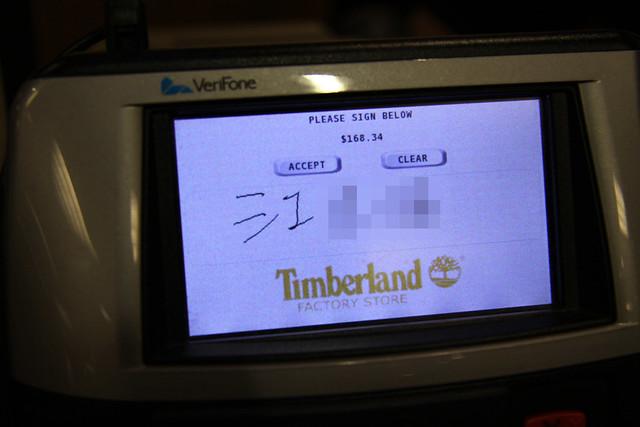 Timberland刷卡機