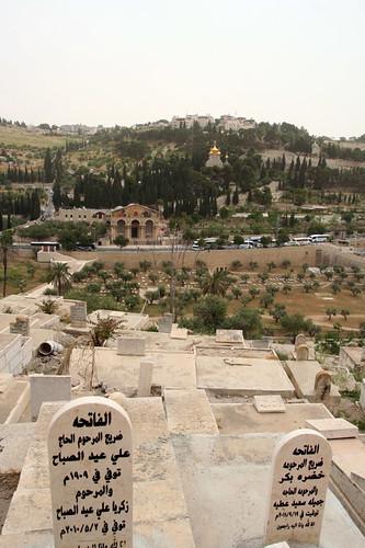 Arabic graveyard overlooking Mount of Olives