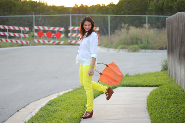 francesca's yellow pants