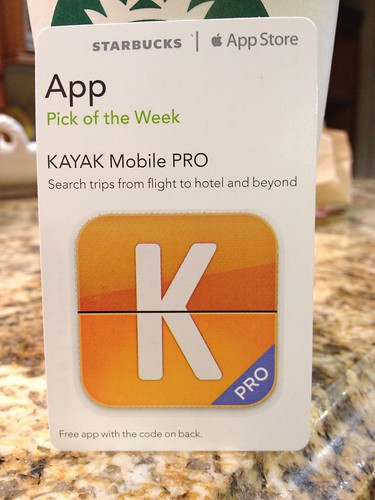 Starbucks iTunes Pick of the Week - KAYAK Mobile Pro