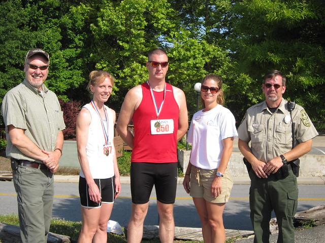 Top male and female winner of High Bridge Trail State Park 5K Run 2011.